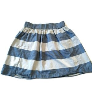 Gap Skirt M Blue Chambray Stripe Short Mini jean